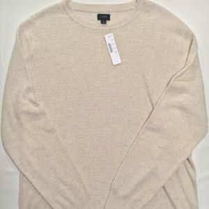 J. Crew Cotton Thermal Knit Crewneck Sweater